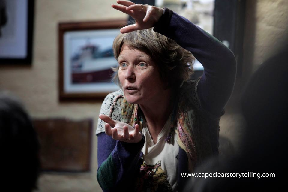 Cape Clear Storytelling Festival 2016 - storyteller in action