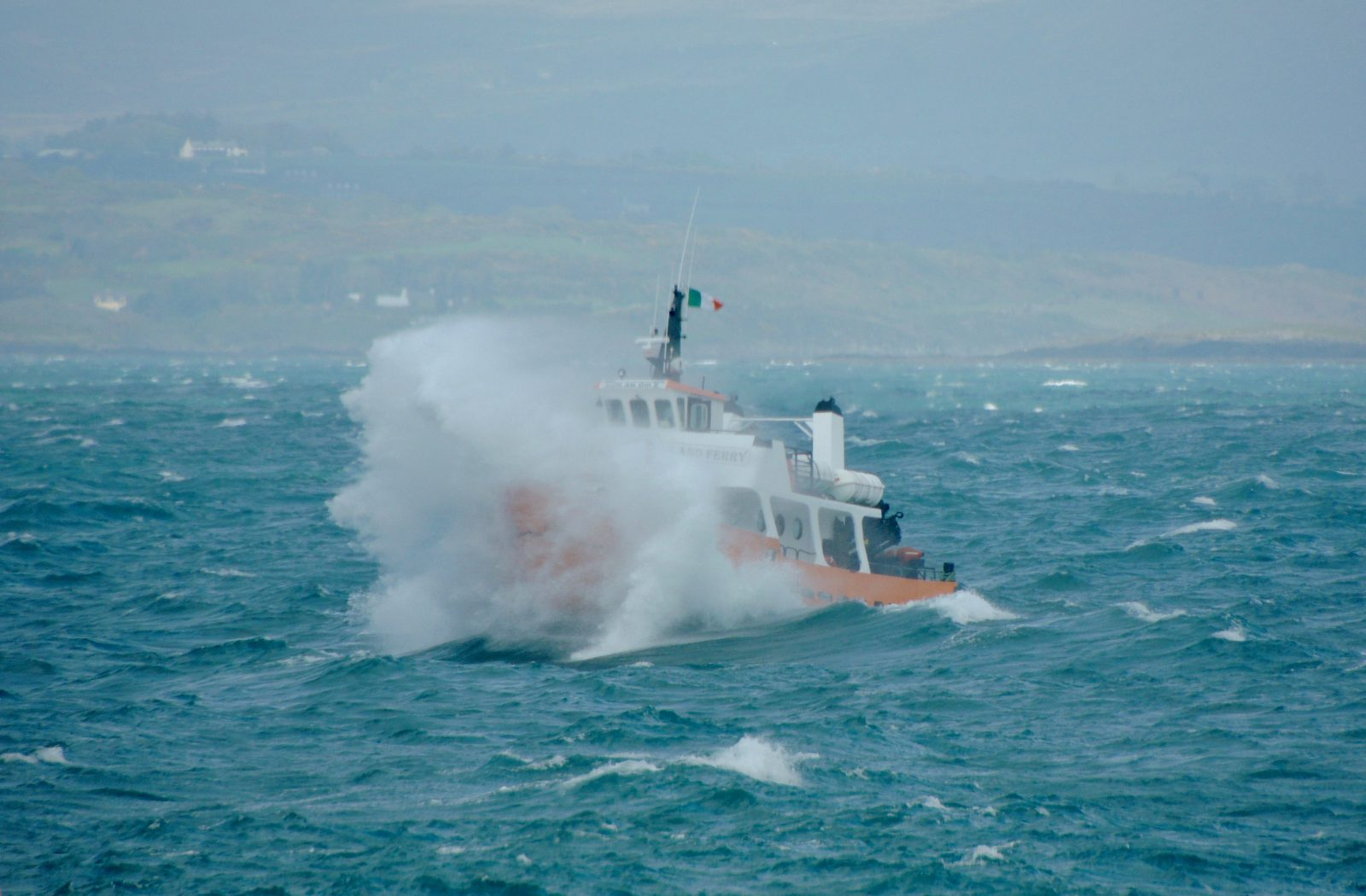Boat in Rough Seas (Pic: Mary Cadogan)